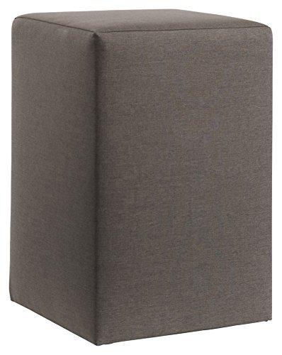 Nachttisch MONDO 1300 Beistelltisch Betttisch Nachtkommode für ihr Schlafzimmer in 30 Stoffe oder T-Leder verschiedenen Farben, Stoff - Leder Auswahl:Fein Anthrazit 3253