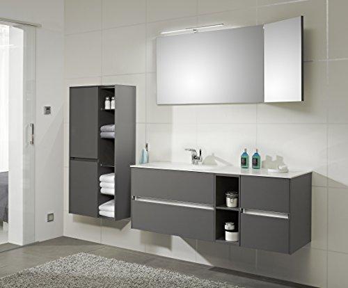 PELIPAL SOLITAIRE 6010 3 tlg. Badmöbel Set / Waschtisch / Unterschrank / Flächenspiegel / Comfort N