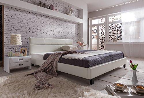 m bel24 m bel g nstig sam design polsterbett pellisima 140 x 200 cm in wei mit samolux. Black Bedroom Furniture Sets. Home Design Ideas