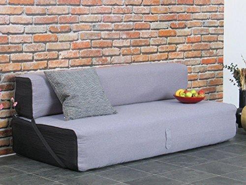 schlafsofa virgo schlafcouch klappsofa bett g stebett sofa couch grau schwarz m bel24 m bel. Black Bedroom Furniture Sets. Home Design Ideas