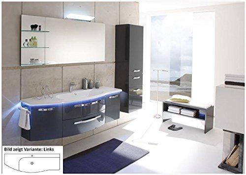 Solitaire 7005 3 tlg. Badmöbel Set / Waschtisch / Unterschrank / Flächenspiegel