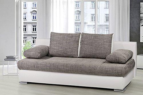 stylisches design schlafsofa orlando grau strukturstoff. Black Bedroom Furniture Sets. Home Design Ideas