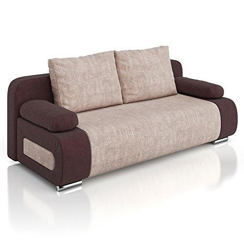 vicco schlafsofa couch ulm sofa 200x91cm g stebett struktur braun schlafcouch m bel24. Black Bedroom Furniture Sets. Home Design Ideas