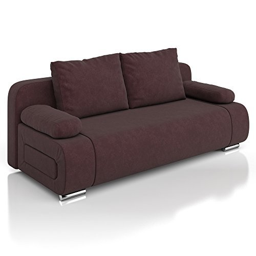 vicco schlafsofa sofa couch ulm federkern 200x91cm mikrofaser braun schlafcouch m bel24. Black Bedroom Furniture Sets. Home Design Ideas