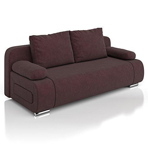 vicco schlafsofa sofa couch ulm federkern 200x91cm mikrofaser braun schlafcouch m bel24. Black Bedroom Furniture Sets. Home Design Ideas
