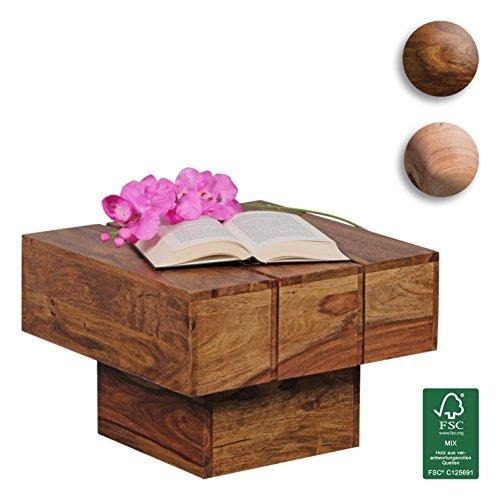 m bel24 m bel g nstig wohnling couchtisch viereckig massivholz design wohnzimmertisch 44 x 44. Black Bedroom Furniture Sets. Home Design Ideas