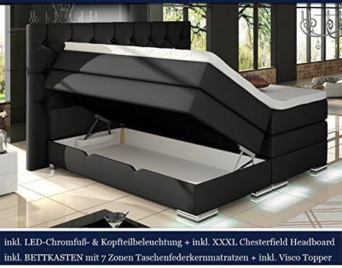 xxxl mailand boxspringbett mit bettkasten designer boxspring bett. Black Bedroom Furniture Sets. Home Design Ideas