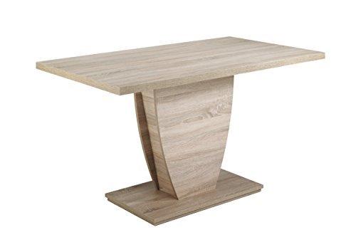 cavadore esszimmertisch barca k chentisch 140 cm breit moderner esstisch in sonoma eichenholz. Black Bedroom Furniture Sets. Home Design Ideas