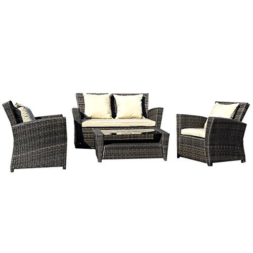 11tlg gartenm bel rattan lounge set polyrattan sitzgruppe. Black Bedroom Furniture Sets. Home Design Ideas
