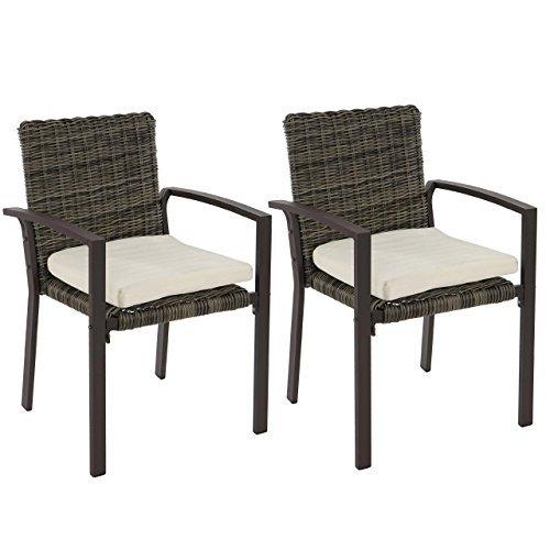 mendler 2x poly rattan gartenstuhl palma ii stapelstuhl. Black Bedroom Furniture Sets. Home Design Ideas
