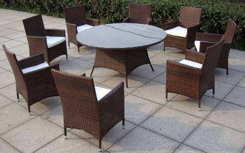 Baidani designer rattan lounge garnitur rondo m bel24 for Exclusive esszimmertische