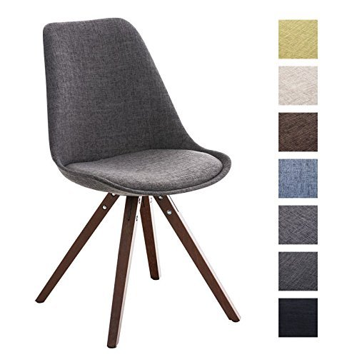 Clp design retro stuhl pegleg square holz gestell walnuss for Design stuhl holz