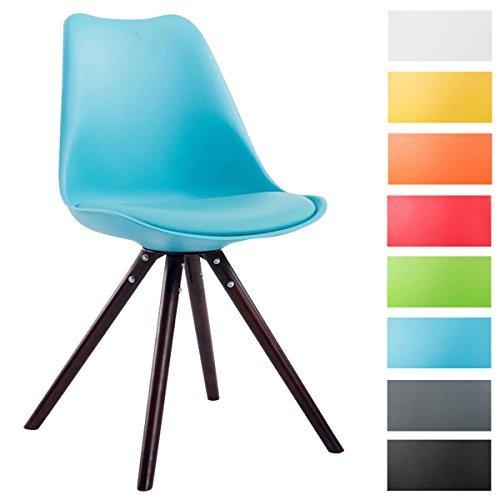 clp design retro stuhl toulouse holzgestell cappuccino rund kunststoff lehne kunstleder sitz. Black Bedroom Furniture Sets. Home Design Ideas
