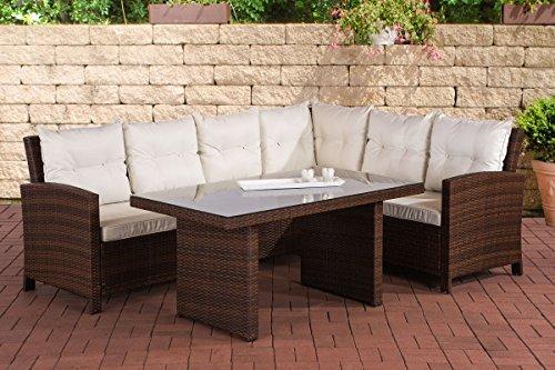 clp polyrattan sitzgruppe miranda inklusive polsterauflagen garten set bestehend aus einem. Black Bedroom Furniture Sets. Home Design Ideas