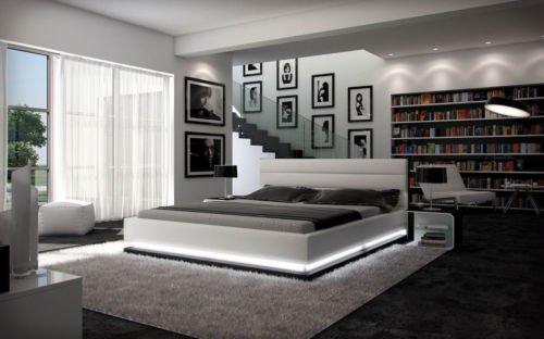 Designerbett-Ripnani-180x200-cm-Doppelbett-Futonbett-Bett-Polsterbett-Kunstleder-0