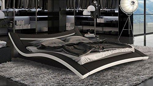 Designerbett-Seducce-180x200-cm-Doppelbett-Futonbett-Bett-Polsterbett-Kunstleder-0