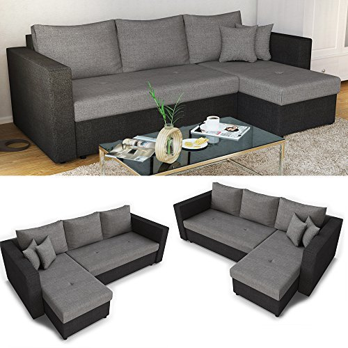 ecksofa mit schlaffunktion auswahl stellma 224 x 144 cm liegema 200 x 140 cm sofa couch. Black Bedroom Furniture Sets. Home Design Ideas