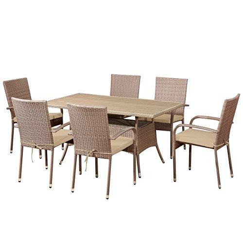 garten set gran canaria polyrattan essgruppe gartenset von jet line in braun m bel24. Black Bedroom Furniture Sets. Home Design Ideas