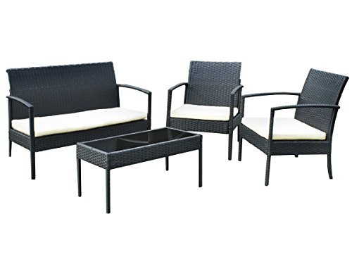 gartenm bel ausverkauf gartenset poly rattan lounge sitzgruppe garnitur 3381 m bel24. Black Bedroom Furniture Sets. Home Design Ideas