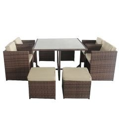 gartenset essgruppe miami ii in braun rattan polyrattan. Black Bedroom Furniture Sets. Home Design Ideas
