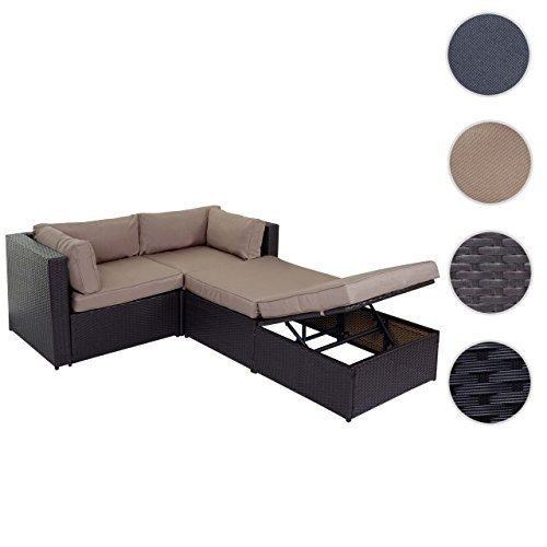 m bel24 m bel g nstig poly rattan garnitur adana gartengarnitur sitzgruppe lounge set alu. Black Bedroom Furniture Sets. Home Design Ideas