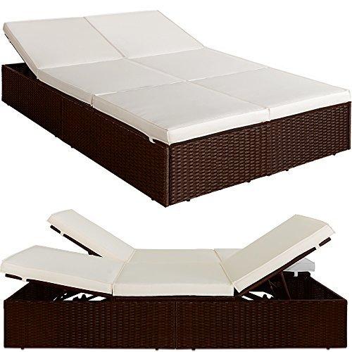 poly rattan liege sonnenliege gartenliege braun 2. Black Bedroom Furniture Sets. Home Design Ideas