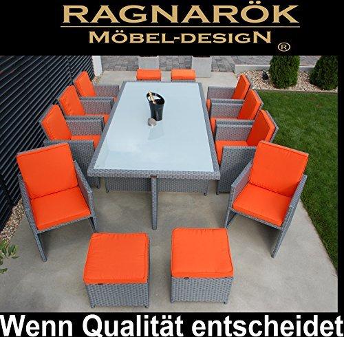 PolyRattan-Essgruppe-DEUTSCHE-MARKE-EIGNENE-PRODUKTION-Tisch-8x-Stuhl-4x-Hocker-7-Jahre-GARANTIE-Garten-Mbel-incl-Glas-und-Sitzkissen-Ragnark-Mbeldesign-Platinum-Grau-Gartenmbel-Gartentisch-Aluminium--0