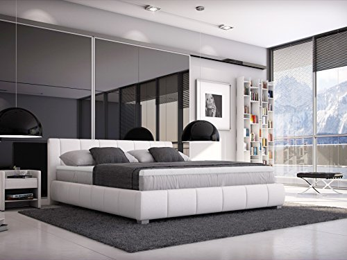 sam designer boxspringbett luna in wei mit h3. Black Bedroom Furniture Sets. Home Design Ideas
