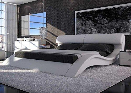 sam polsterbett innocent bett allure in wei 140 x 200 cm geschwungene seitenteile kopfteil. Black Bedroom Furniture Sets. Home Design Ideas