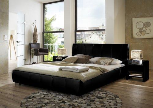 SAM-Polsterbett-Innocent-Lumo-160-x-200-cm-schwarz-im-modernen-abgesteppten-Design-Wasserbett-geeignet-teilzerlegt-Auslieferung-mit-Spedition-0