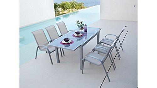 baumarkt direkt gartentisch amalfi ausziehbar aluminium 90 cm 140200 cm silberfarben 0 m bel24. Black Bedroom Furniture Sets. Home Design Ideas