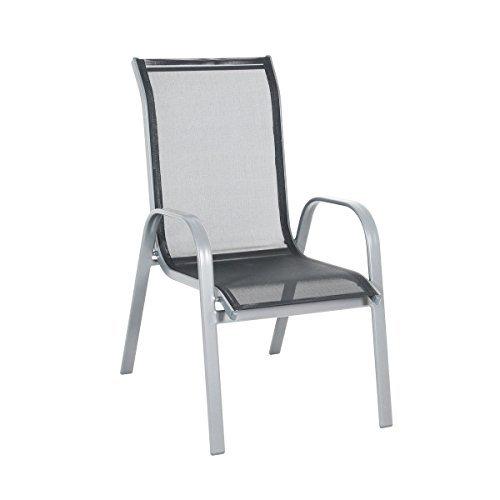 greemotion stapelsessel prag silber schwarz sitzm glichkeit f r in und outdoor platzsparender. Black Bedroom Furniture Sets. Home Design Ideas