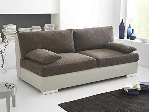 boxspring schlafsofa somerset braun beige 202x106cm dauerschlfer sofa schlafcouch schlafliege 0. Black Bedroom Furniture Sets. Home Design Ideas