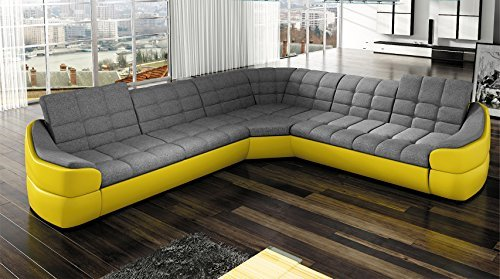 Couchgarnitur infinity l sofa couch polsterecke ecksofa for Couchgarnitur wohnlandschaft