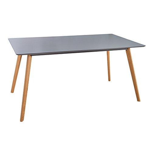 retro esstisch scandinavia meisterst ck 160cm grau echt eiche esszimmer tisch m bel24 m bel. Black Bedroom Furniture Sets. Home Design Ideas