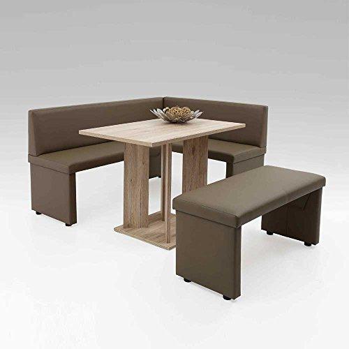 m bel24 m bel g nstig essecke in braun kunstleder san remo eiche pharao24 0. Black Bedroom Furniture Sets. Home Design Ideas