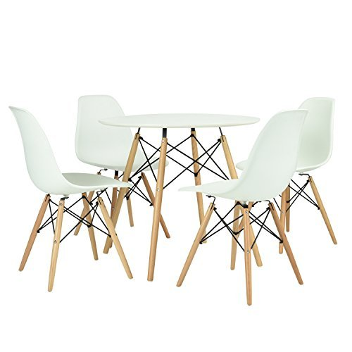 Furniturer set von esstisch set retro design wood style for Stuhl esstisch design