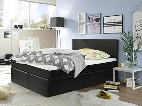 sam design boxspringbett helena mit stoff bezug in schwarz bonellfederkern matratze box mit. Black Bedroom Furniture Sets. Home Design Ideas