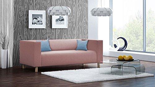 lifestyle4living sofa couch 3 sitzer polstersofa webstoff altrosa rosa pink. Black Bedroom Furniture Sets. Home Design Ideas