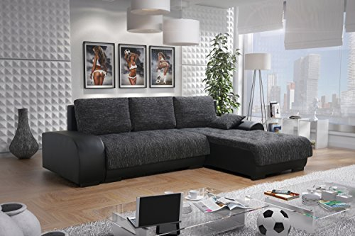 sofa couchgarnitur couch sofagarnitur leon 3 l polstergarnitur polsterecke wohnlandschaft mit. Black Bedroom Furniture Sets. Home Design Ideas