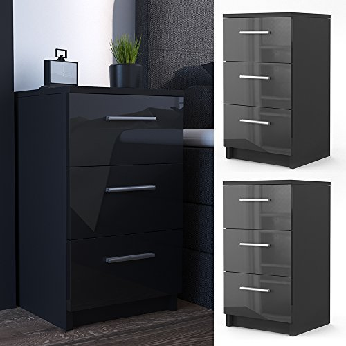 nachtkommode f r boxspringbett 2 er set 66cm hoch schwarz. Black Bedroom Furniture Sets. Home Design Ideas
