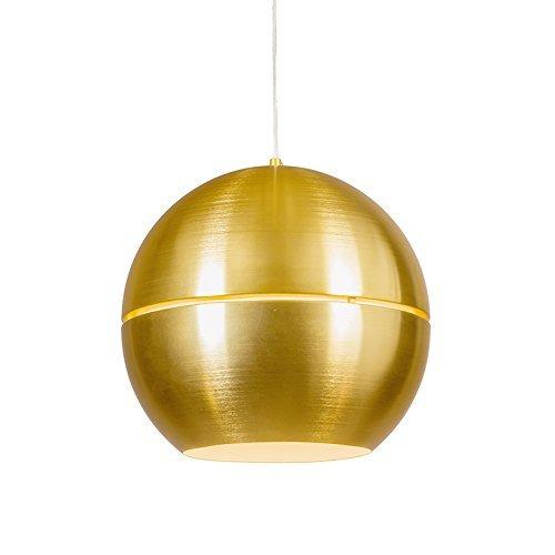 QAZQA Art Deco / Design / Modern / Retro / Esstisch / Esszimmer / Pendelleuchte / Pendellampe / Hängelampe / Lampe / Leuchte Slice 40 Gold / Messing Aluminium Rund / Kugel / Kugelförmig / LED geeignet E27 Max. 1 x 60 Watt