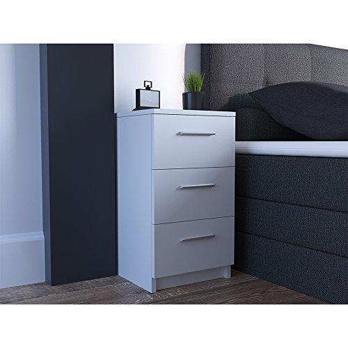 nachtkommode f r boxspringbett 2 er set 66cm hoch wei. Black Bedroom Furniture Sets. Home Design Ideas