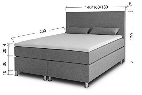 boxspringbett 160 200 ronda lux komfort taschenfederkern matratze h3 unterbau. Black Bedroom Furniture Sets. Home Design Ideas