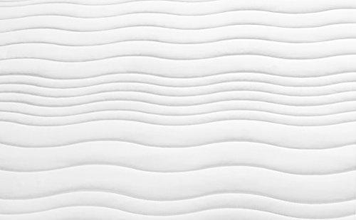 Traumnacht XXL de Luxe 7-Zonen Kaltschaummatratze mit Visco-Gelschaumauflage Härtegrad 2,5 (H2,5), 90 x 200 cm, weiß