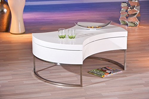 links 20800890 couchtisch wei hochglanz wohnzimmertisch wohnzimmer tisch mit stauraum drehbar. Black Bedroom Furniture Sets. Home Design Ideas