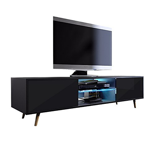 tv schrank lowboard sideboard tisch m bel board rivano mit. Black Bedroom Furniture Sets. Home Design Ideas