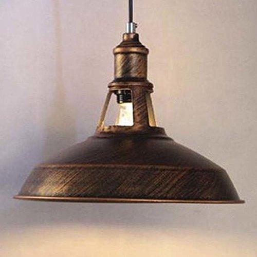 BAYCHEER Vintage Pendelleuchte in Rostbraun E27 Einflammige Höhenverstellbar (Bronze)