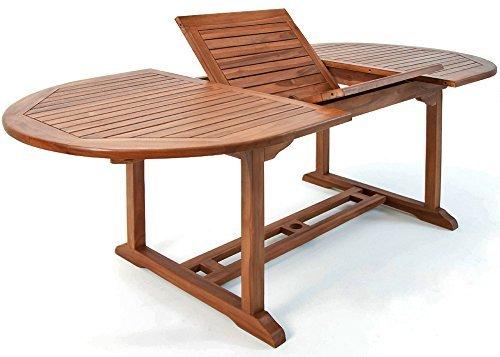 luxus gartentisch vanamo 200x90cm eukalyptusholz gartenm bel tischplatte verstellbar halterung. Black Bedroom Furniture Sets. Home Design Ideas