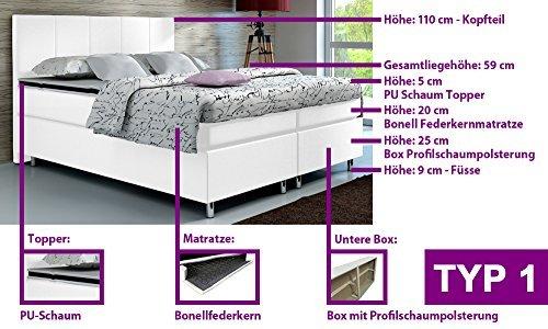 m bel24 m bel g nstig boxspringbett 160x200 hotelbett doppelbett polsterbett ehebett. Black Bedroom Furniture Sets. Home Design Ideas